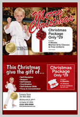 martial arts christmas templates for ad cards. Black Bedroom Furniture Sets. Home Design Ideas