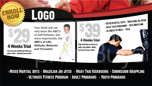 Martial Arts Design Template ma000501 Business card side 2