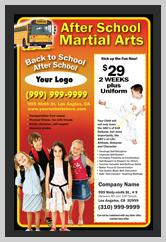 Martial Arts Design Templates That Are Orange