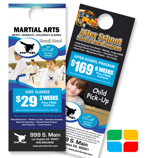 Martial Arts Door Hangers ma020020
