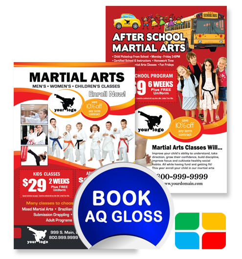 Martial Arts Flyers ma020010 8.5 x 5.5