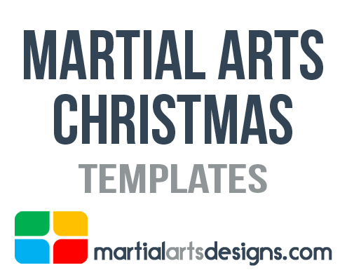 Martial Arts Christmas Templates - Martial arts gift certificate template