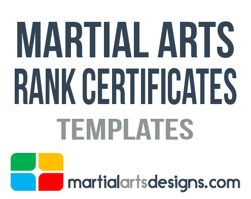 Martial Arts Rank Certificates Templates
