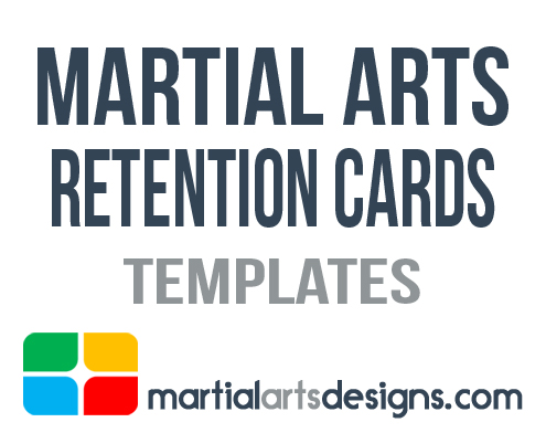 Martial Arts Rentention Cards Templates