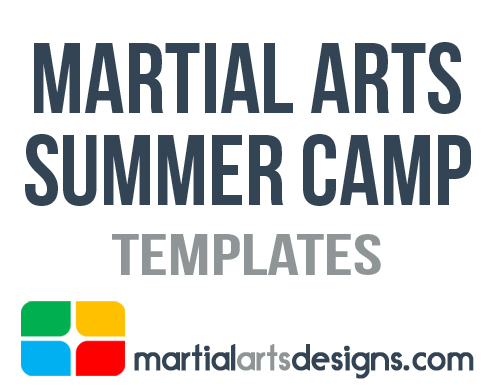 Martial Arts Summer Camp Templates