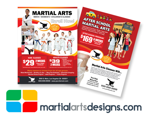 Martial Arts Flyers Template ma020010