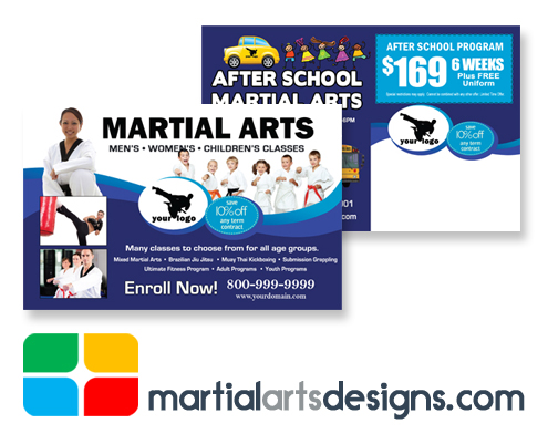 Martial Arts Postcards Template ma020020