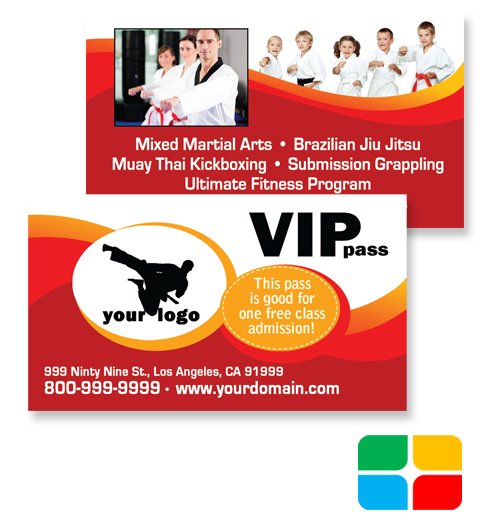 Choose A Martial Arts VIP Pass Template To Modify  Free Vip Pass Template