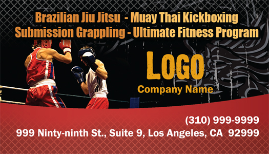 Martial Arts Design Template ma007001 Business card side 2