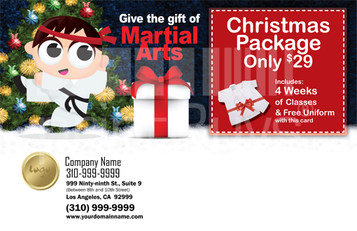 Martial Arts Design Template Postcard ma000004 side 2