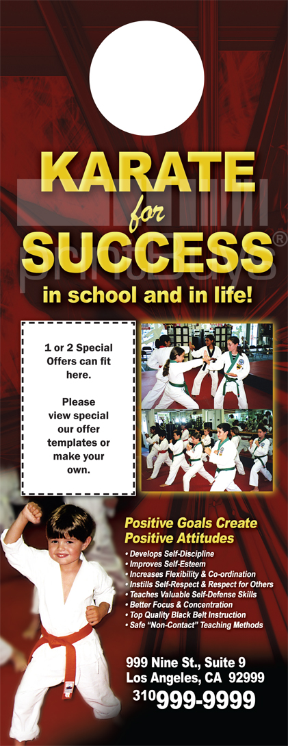 Martial Arts Design Template Postcard 8.5 x 5.5 Flyer ma001001 4.25 x 14