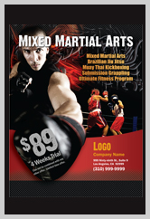 Martial Arts Design Template ma000501 flyers