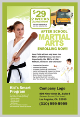 Martial Arts Design Template ma000501 Postcards