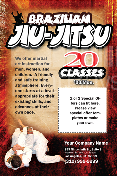Martial Arts Design Template Postcard ma008001 side 2