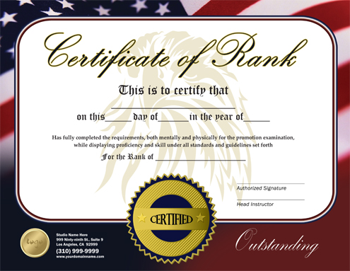 martial arts certificate template free image collections
